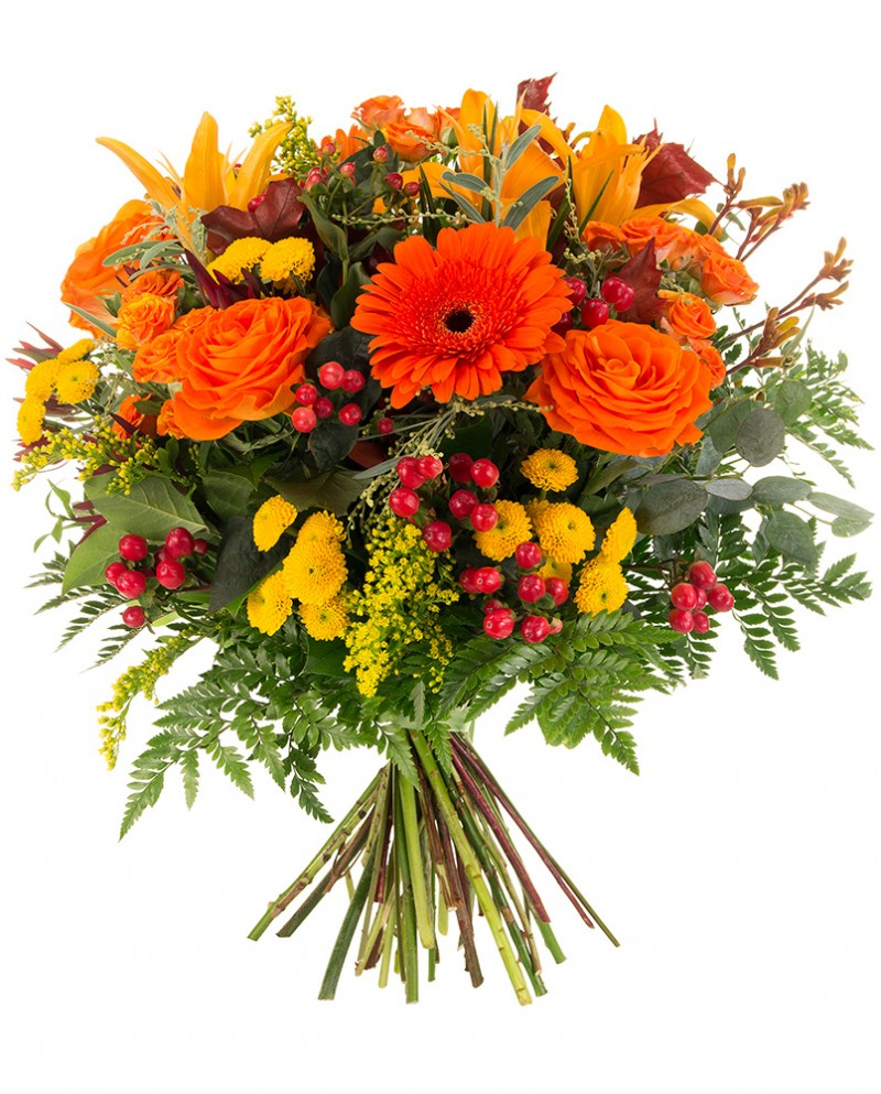 Orange and Yellow Bouquet - Monkstown Flowers
